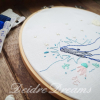 Photo of whale finished embroidery with watermark