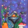 Witches Tea Party Greeting Card Design