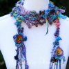Close Up of Crochet Scarf on Mannequin