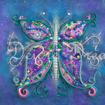 Dreams Butterfly Print Design