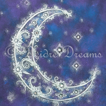 Moonlight Crescent Moon Print Design
