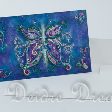 Dreams Butterfly Greeting Card with Envelope