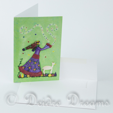Aries Goddess Greeting Card with White Envelope