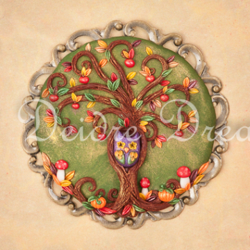 Autumn Tree of Life Greeting Card Design