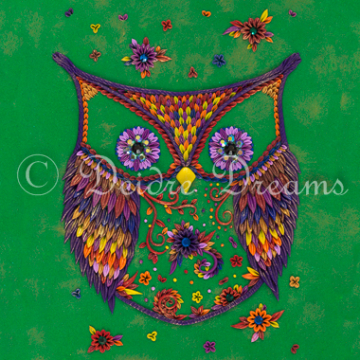 Owl Greeting Card Print Design