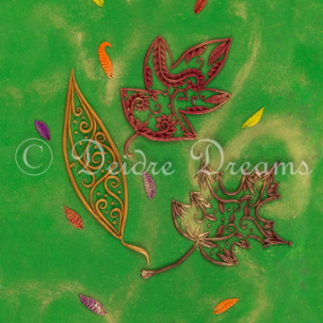 Autumn Leaves Art Print Design