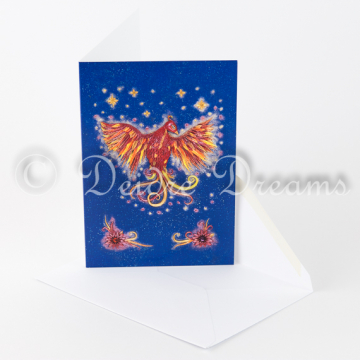 Phoenix Greeting Card with Envelope