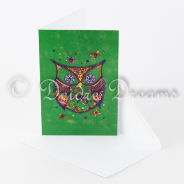 Owl Greeting Card with Envelope