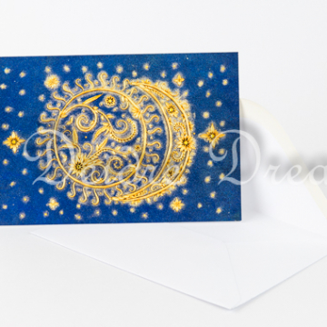 Sun and Moon Greeting Card with Envelope