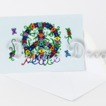 Peace Sign Greeting Card with Envelope