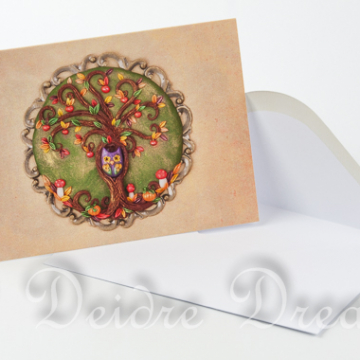 Autumn Tree of Life Greeting Card with White Envelope