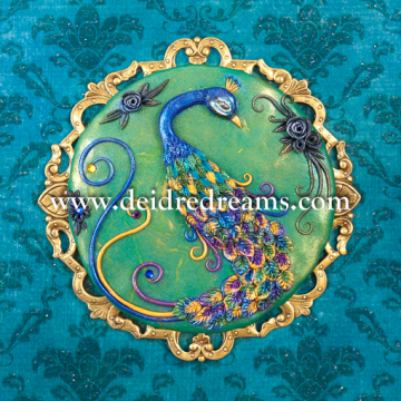Blue Peacock greeting card design
