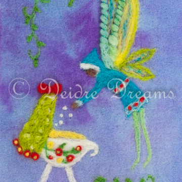 Nursery Fairy with Cradle Art Print