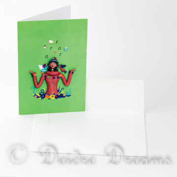 Angel Devil Greeting Card with Envelope