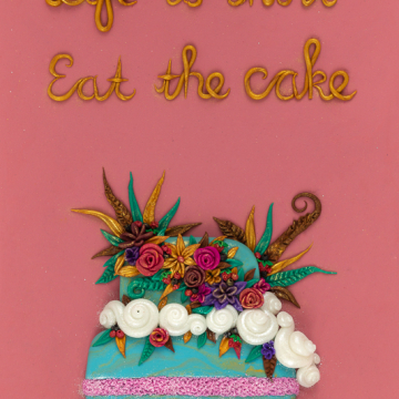 Life is Short Eat the Cake Art Print Design