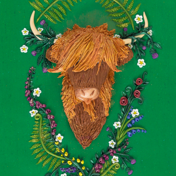 Highland Cow Art Print Design