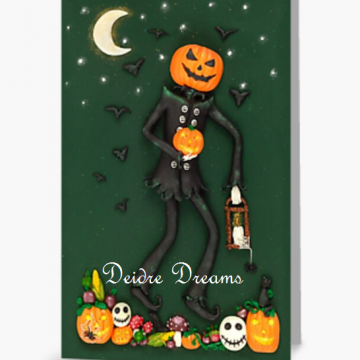Jack o Lantern Greeting Card
