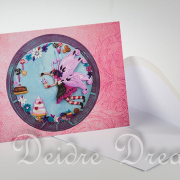 Overview of Bakery Fairy Greeting Card and Envelope