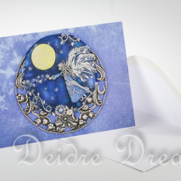 Overview of Angel Fairy Greeting Card and Envelope