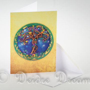 Overview of Magic Tree Greeting Card and Envelope