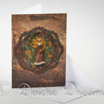 Overview of Steampunk Adventurer Greeting Card and Envelope