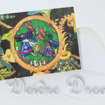 Overview of Greeting Card and White Envelope