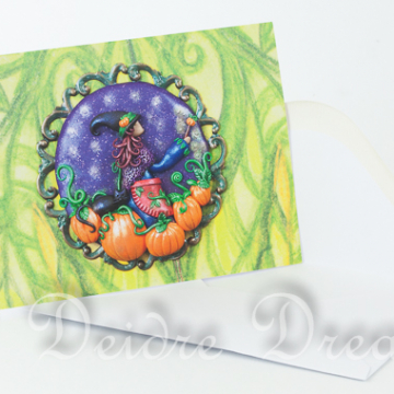 Tending the Pumpkin Patch Greeting Card with White Envelope