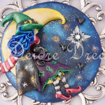 Sophie Moon Witch Greeting Card Design