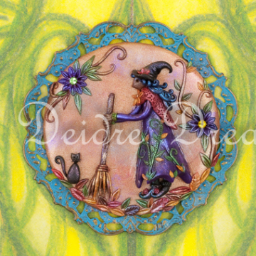 Witch Art Greeting Card