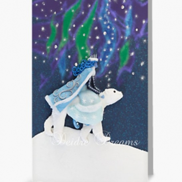 Winter Goddess on Polar Bear Greeting Card