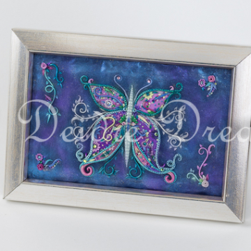Original Sculpted Butterfly Painting
