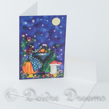 Witches Tea Party Greeting Card