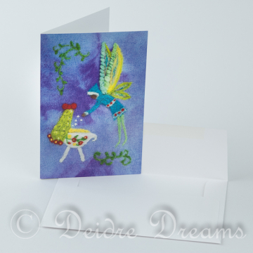 Nursery Fairy Card - Cradle Greeting Card - Nursery Decor