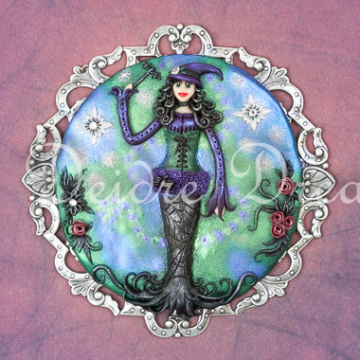 Downloadable Goth Witch Print - Digital Download Print