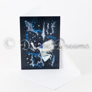 Angel in Starry Skies Greeting Card