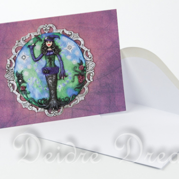 Goth Witch Greeting Card