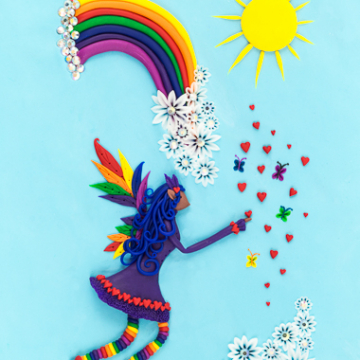 Downloadable Rainbow Fairy Print - Instant Download