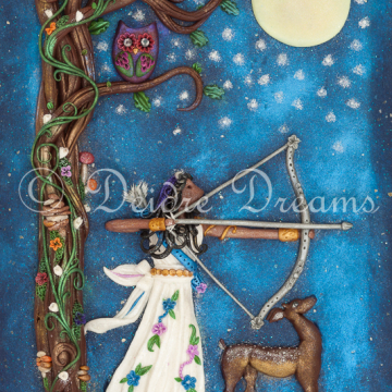 Digital Download Diana / Artemis Goddess of the Moon and Hunt Print - Downloadable Print
