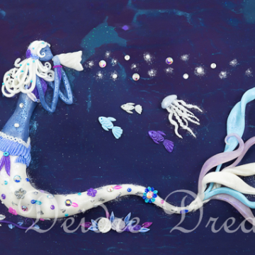 Mermaid Art Print - 20x30 cm