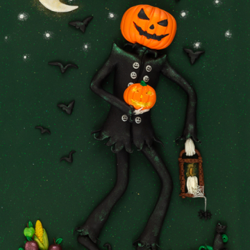Instant Download Jack o Lantern Print - Downloadable Print
