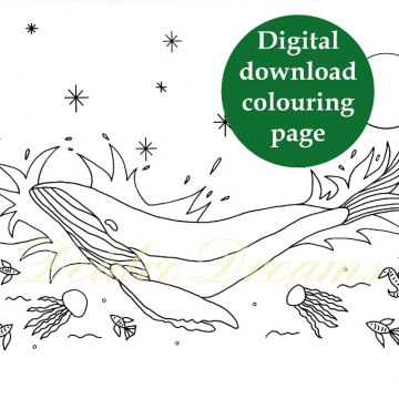 Whale coloring page - printable colouring page