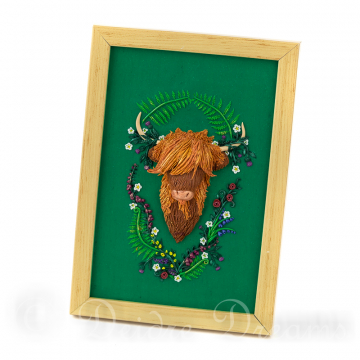 Highland Cow Polymer Clay Hand Sculpted Painting