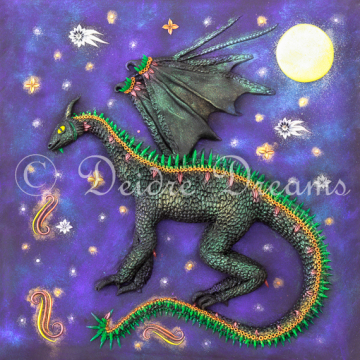 Dragon Art Print - 20x20 cm