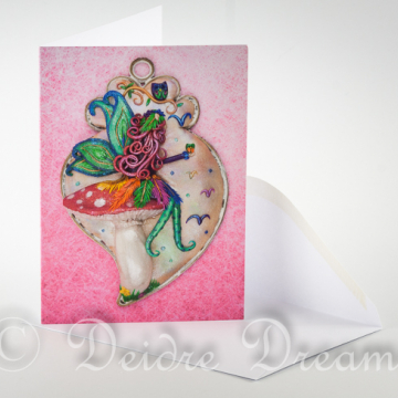Fairy on Toadstool Greeting Card