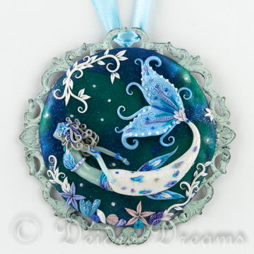 In Frozen Seas - Mermaid Art Pendant