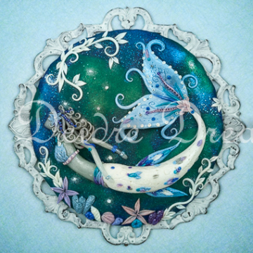 Downloadable Blue Mermaid Print - Digital Download