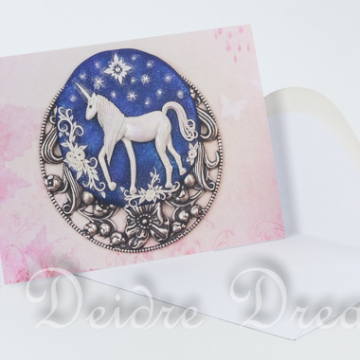 Pink Unicorn Greeting Card