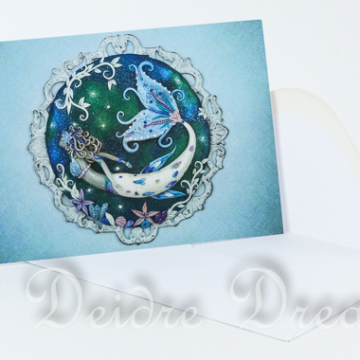 Blue Mermaid Greeting Card