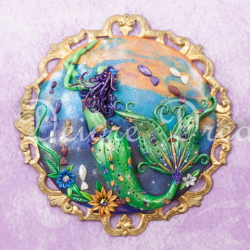 Downloadable Purple and Green Mermaid Print - Instant Download