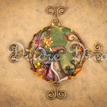 Digital Download Print - Downloadable Autumn Witch Print
